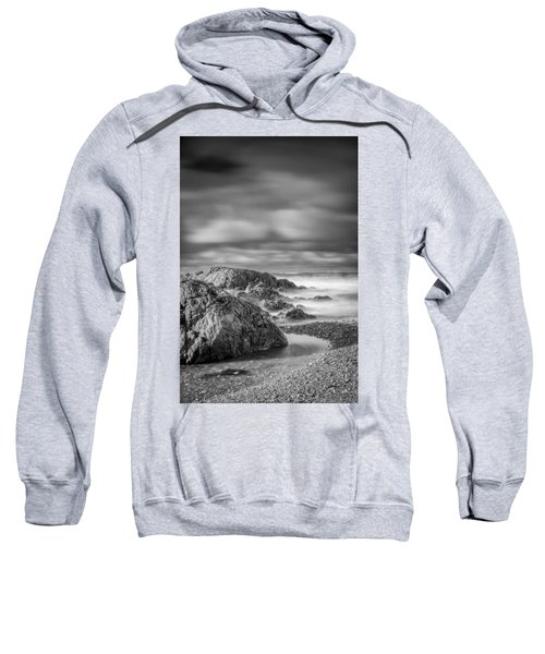 Long Exposure Of A Shingle Beach And Rocks Sweatshirt