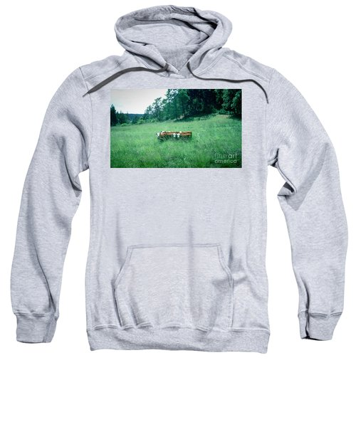 Sweatshirt featuring the photograph Looking Back by Peter Simmons