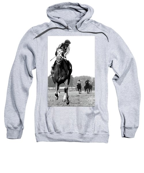 Looking Back, 1973 Secretariat, Stretch Run, Belmont Stakes Sweatshirt