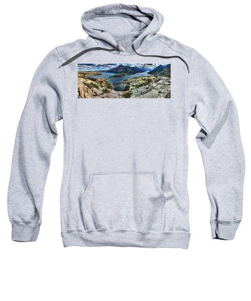 Looking Down On Waterton Lakes Sweatshirt