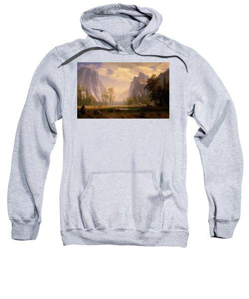 Looking Up The Yosemite Valley  Sweatshirt