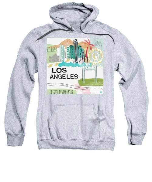 Los Angeles Cityscape- Art By Linda Woods Sweatshirt