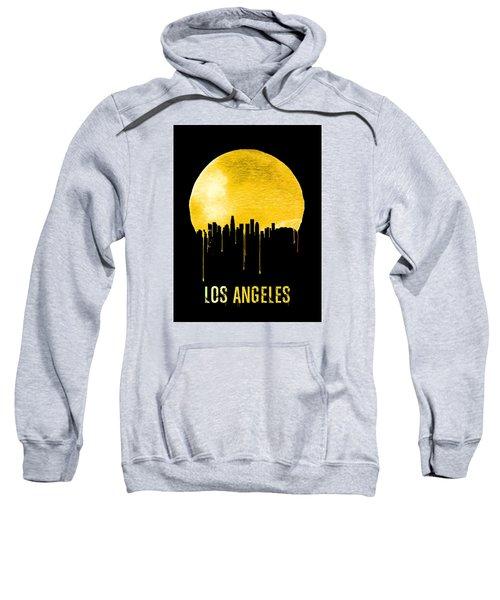 Los Angeles Skyline Yellow Sweatshirt by Naxart Studio
