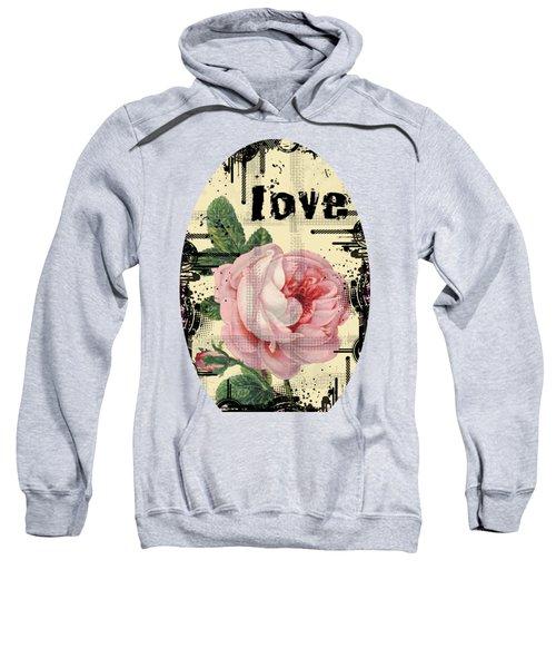 Love Grunge Rose Sweatshirt
