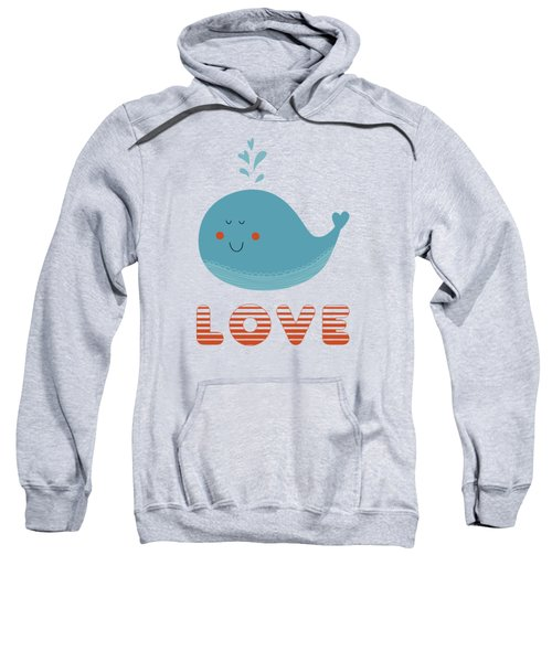 Love Whale Cute Animals Sweatshirt by Edward Fielding