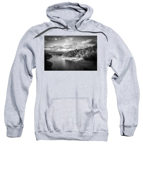 Low Sun Across The Nantahala River As The Clouds Clear Away Sweatshirt