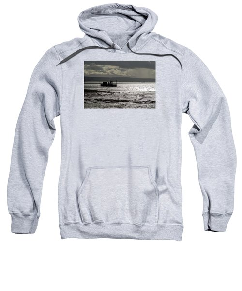 Sweatshirt featuring the photograph Low Tide In Isle Of Skye by Dubi Roman