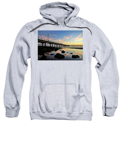 Low Tide Reflections At The Pier  Sweatshirt