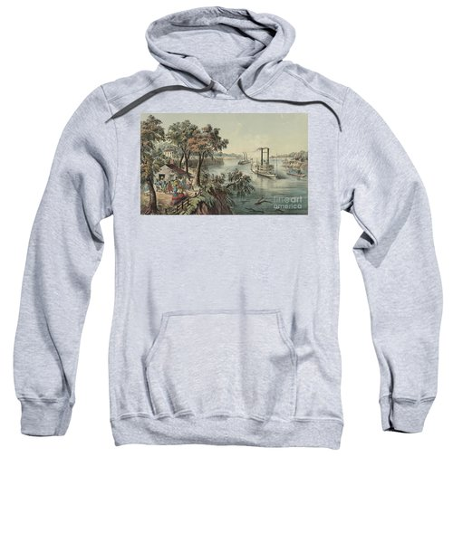 Low Water In The Mississippi, 1868  Sweatshirt