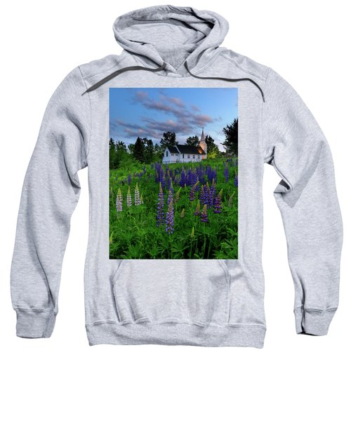 Lupines By The Church Sweatshirt