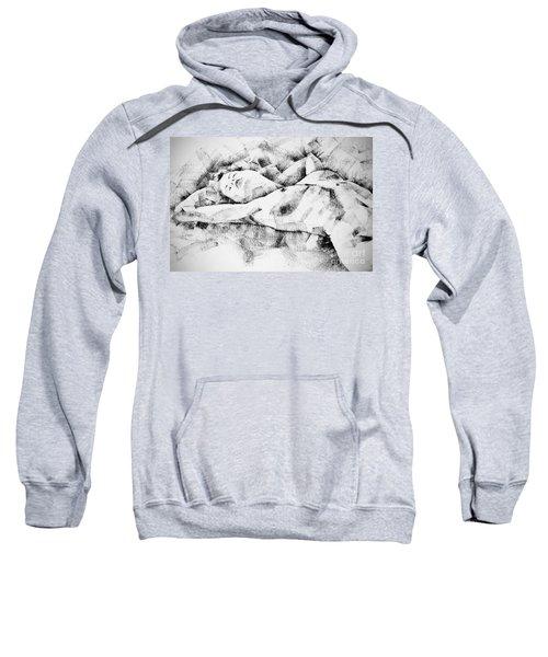 Lying Woman Figure Drawing Sweatshirt