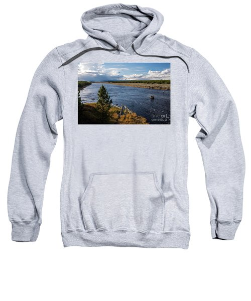 Madison River In Yellowstone National Park Sweatshirt