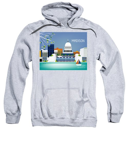 Madison Wisconsin Horizontal Skyline Sweatshirt