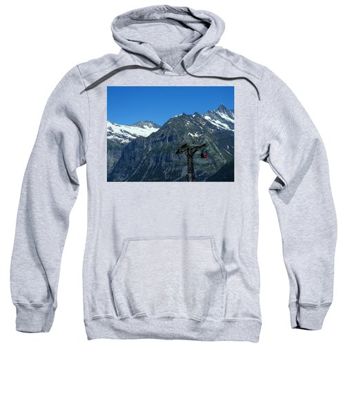 Maennlichen Gondola Calbleway, In The Background Mettenberg And Schreckhorn Sweatshirt