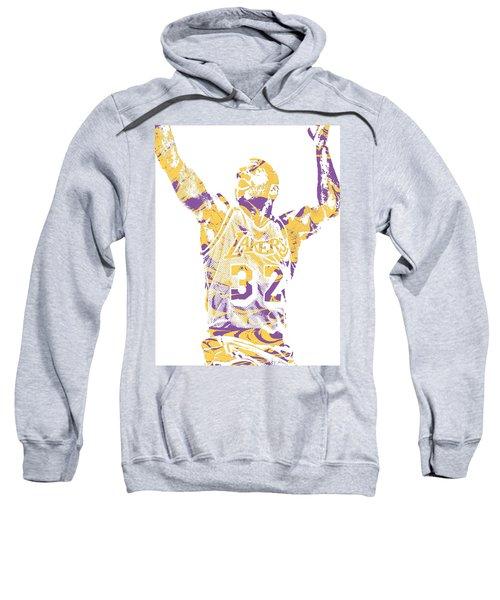Magic Johnson Los Angeles Lakers Pixel Art 7 Sweatshirt