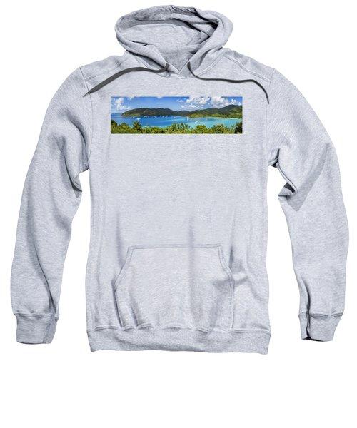 Sweatshirt featuring the photograph Maho And Francis Bays On St. John, Usvi by Adam Romanowicz