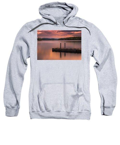 Maine Highland Lake Boat Ramp At Sunset Sweatshirt