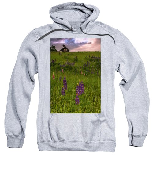 Maine Lupines And Home After Rain And Storm Sweatshirt