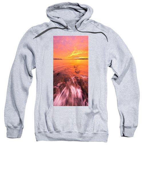 Maine Rocky Coastal Sunset At Kettle Cove Sweatshirt