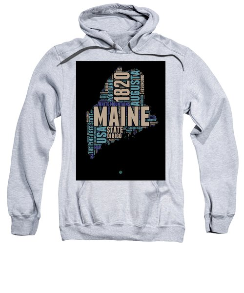 Maine Word Cloud 1 Sweatshirt