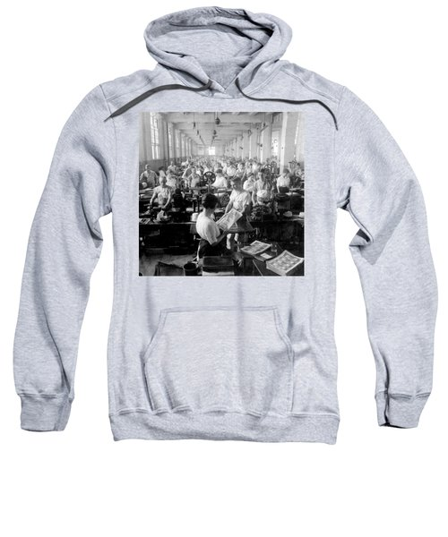 Making Money At The Bureau Of Printing And Engraving - Washington Dc - C 1916 Sweatshirt