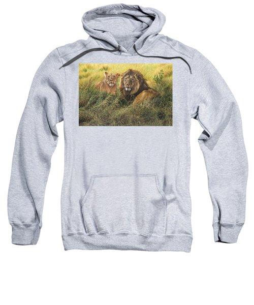 Male And Female Lion Sweatshirt