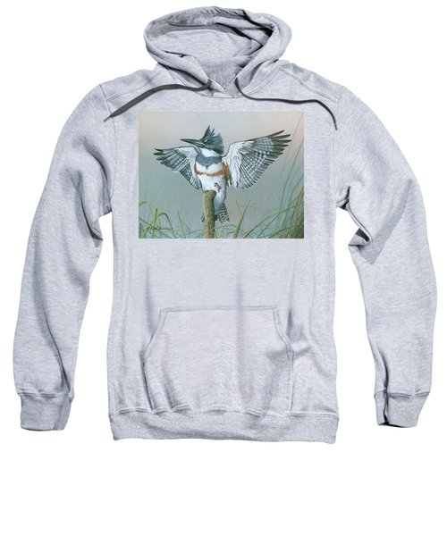 Male Belted Kingfisher Sweatshirt