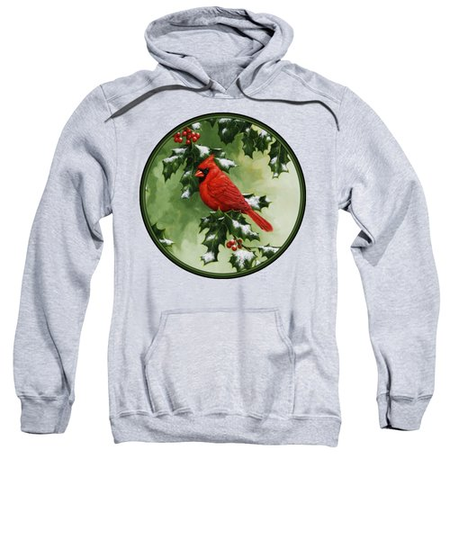 Male Cardinal And Holly Phone Case Sweatshirt
