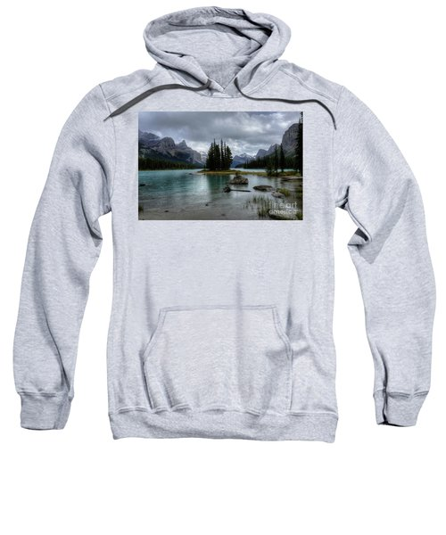 Maligne Lake Spirit Island Jasper National Park Alberta Canada Sweatshirt
