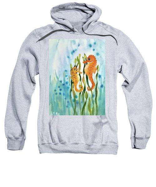 Mamma And Baby Seahorses Sweatshirt