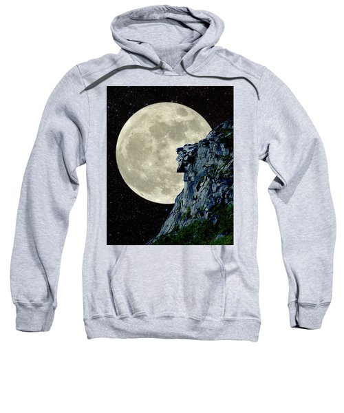Man In The Moon Meets Old Man Of The Mountain Vertical Sweatshirt