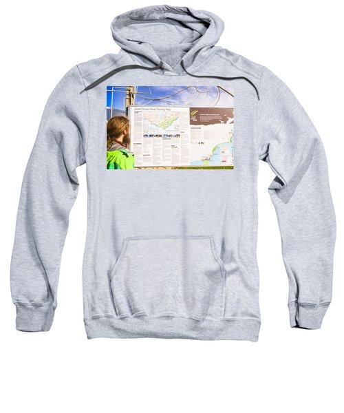 Man Sightseeing The Great Ocean Road Sweatshirt