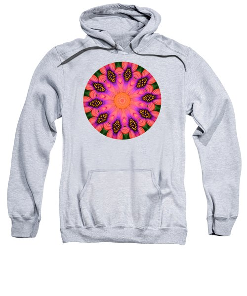 Mandala Salmon Burst - Prints With Salmon Color Background Sweatshirt by Hao Aiken