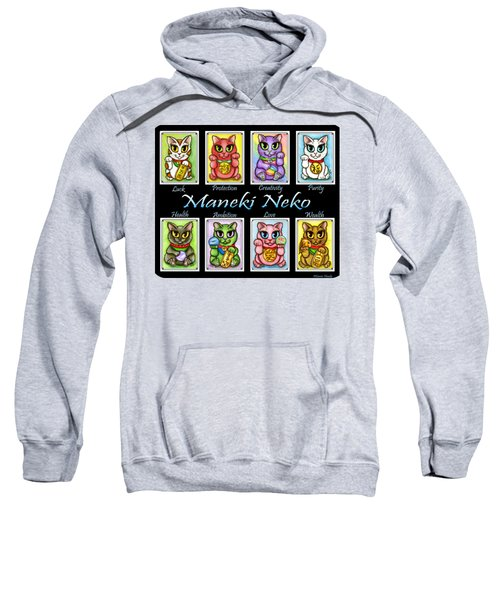 Maneki Neko Luck Cats Sweatshirt