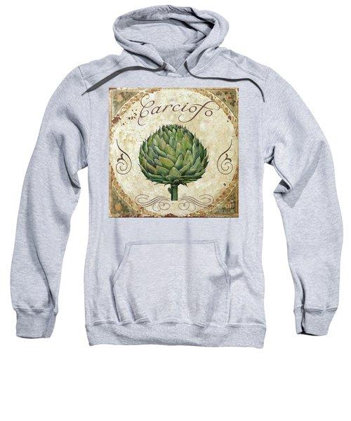 Mangia Artichoke Sweatshirt by Mindy Sommers