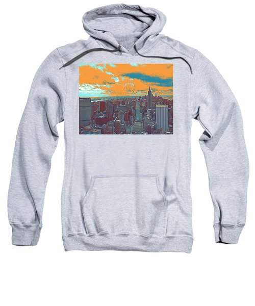 Manhattan, Nyc Travel Poster Sweatshirt