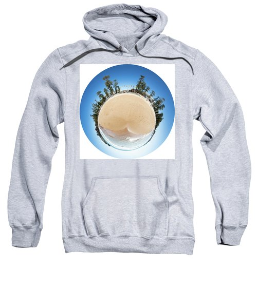 Sweatshirt featuring the photograph Manly Beach Tiny Planet by Chris Cousins