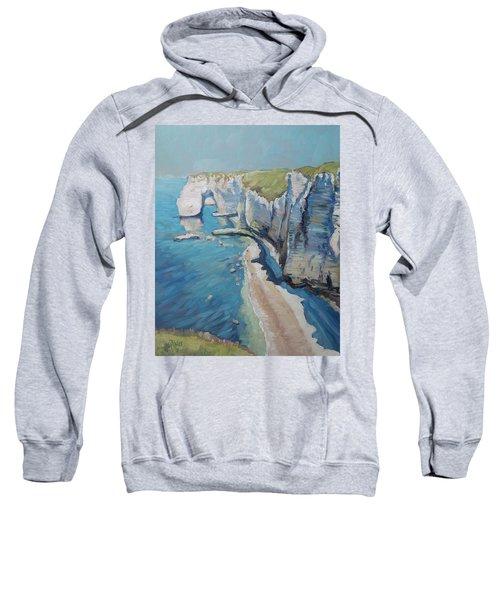 Manneport, The Cliffs At Etretat Sweatshirt
