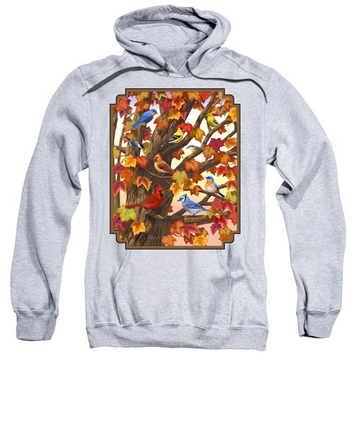 Maple Tree Marvel - Bird Painting Sweatshirt