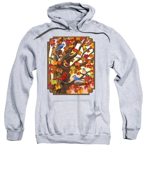 Maple Tree Marvel - Bird Painting Sweatshirt