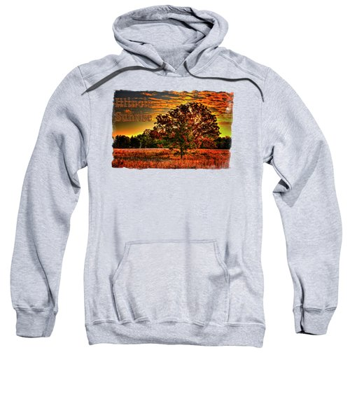 Maple Tree On An Illinois Priaire Early Autumn Sweatshirt