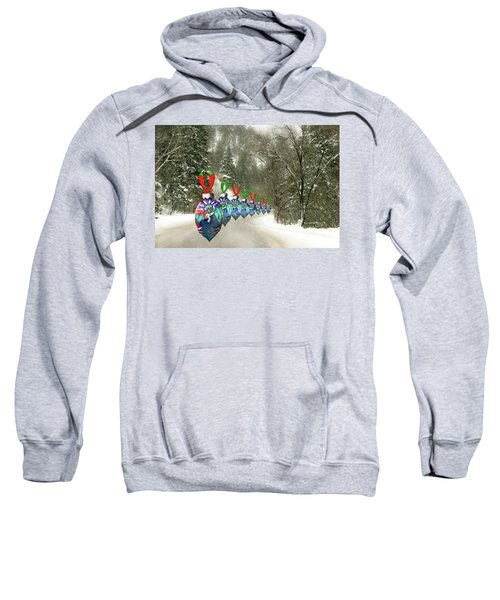 Marching Ornaments Chili Peppers Sweatshirt
