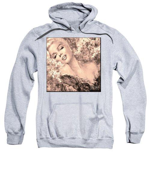 Marilyn Cherry Blossom, B Sepia Sweatshirt