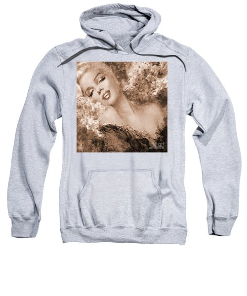Marilyn Cherry Blossoms, Sepia Sweatshirt