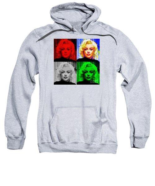 Marilyn Monroe - Quad. Pop Art Sweatshirt
