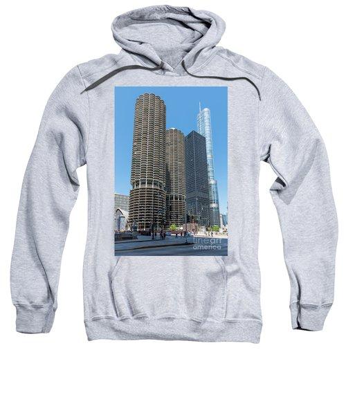 Marina City, Ama Plaza, And Trump Tower Sweatshirt