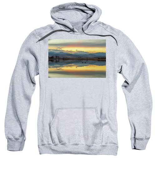 Sweatshirt featuring the photograph Marvelous Mccall Lake Reflections by James BO Insogna