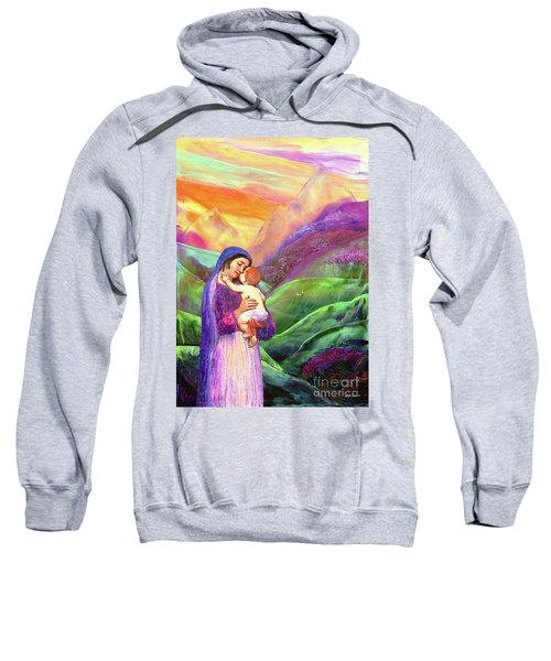 Mary And Baby Jesus Gift Of Love Sweatshirt
