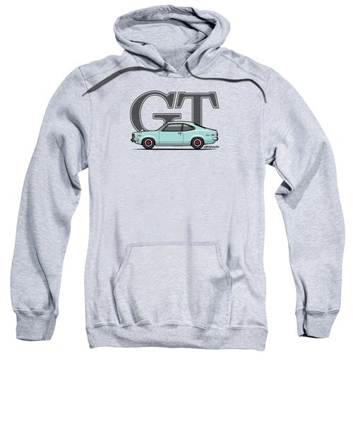 Mazda Savanna Gt Rx-3 Baby Blue Sweatshirt by Monkey Crisis On Mars