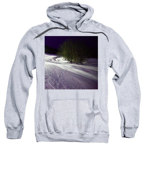 Sweatshirt featuring the photograph Mccauley Evening Snowscape by David Patterson